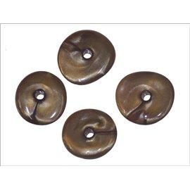 Perles en Résine Synthétique - Roue/15 mm - Marron