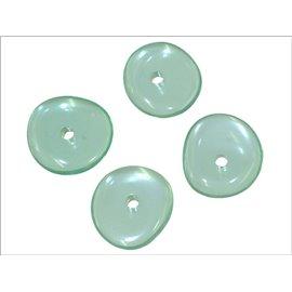 Perles en Résine Synthétique - Roue/15 mm - Vert