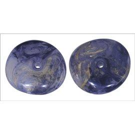 Perles en Résine Synthétique - Roue/19 mm - Bleu