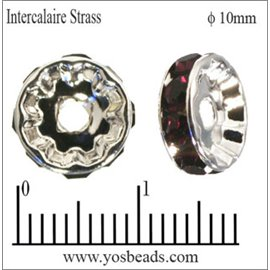 Apprêts Intercalaires Strass - 10 mm - Bourgogne