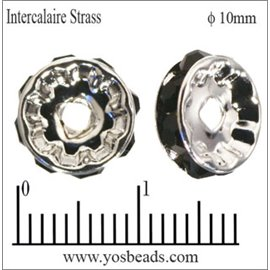Apprêts Intercalaires Strass - 10 mm - Jet