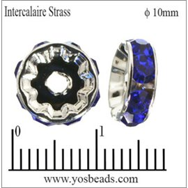 Apprêts Intercalaires Strass - 10 mm - Saphir