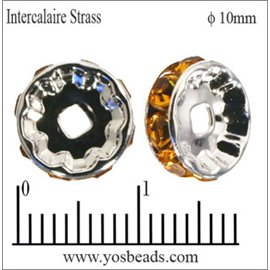 Apprêts Intercalaires Strass - 10 mm - Topaze