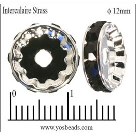 Apprêts Intercalaires Strass - 12 mm - Jet