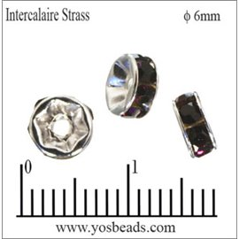 Apprêts Intercalaires Strass - 6 mm - Bourgogne