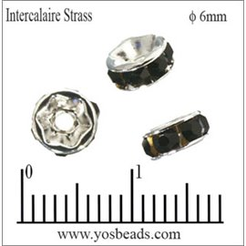 Apprêts Intercalaires Strass - 6 mm - Jet