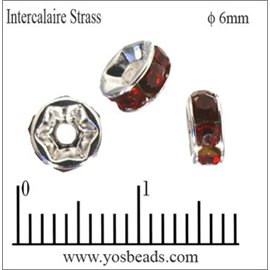 Apprêts Intercalaires Strass - 6 mm - Siam