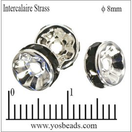 Apprêts Intercalaires Strass - 8 mm - Jet