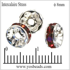 Apprêts Intercalaires Strass - 8 mm - Siam