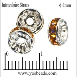 Apprêts Intercalaires Strass - 8 mm - Topaze