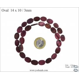 Perles en Nacre - Ovale/14 mm - Violet