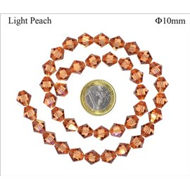 Perles en Cristal de Bohème - Toupie/10 mm - Light Peach