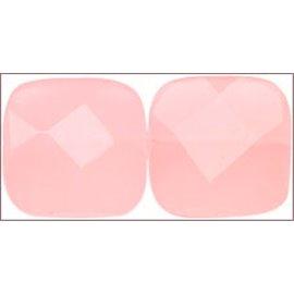 Perles de Bohème Facettées - Carré/14 mm - Rose