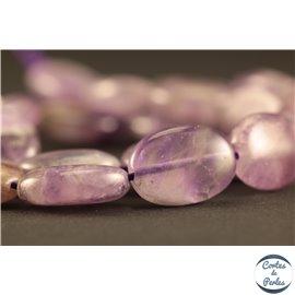 Perles semi précieuses en Améthyste - Ovale/12 mm - Violet