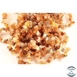 Perles semi précieuses en agate - Pépites/4 mm - Rouge Orangé