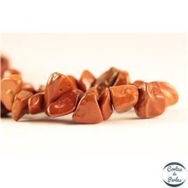 Perles semi précieuses en jaspe rouge - Pépites/4 mm - Fire brick
