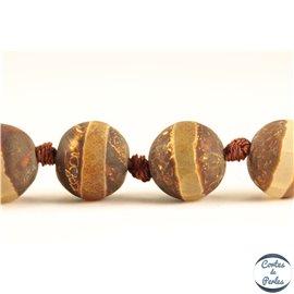 Perles semi précieuses en agate - Rondes/10 mm - Sienna