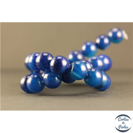 Perles semi précieuses en Agate - Rondes/12 mm - Midnight Blue