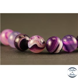 Perles semi précieuses en agate - Rondes/8 mm - Indigo