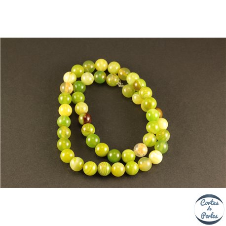 Perles semi précieuses en Agate - Rondes/8 mm - Lime Green