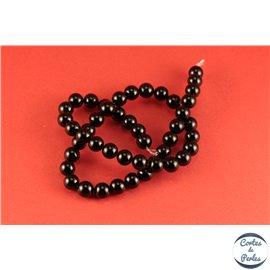 Perles en agate noire - Rondes/8mm - Grade A