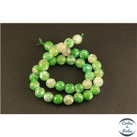Perles semi précieuses en agate - Rondes/10 mm - Lime green