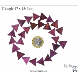 Perles en nacre - Triangles/17 mm - Mauve