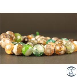 Perles en agate multicolore - Rondes/10mm