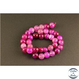 Perles semi précieuses en agate - Rondes/10 mm - Camélia