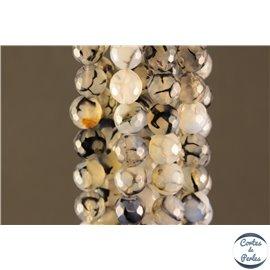 Perles semi précieuses en agate - Rondes/10 mm - Gris smoke