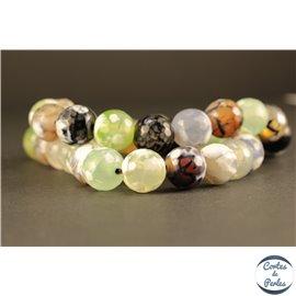 Perles semi précieuses en Agate - Rondes/10 mm - Multicolore