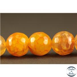 Perles semi précieuses en agate - Rondes/10 mm - Flamme