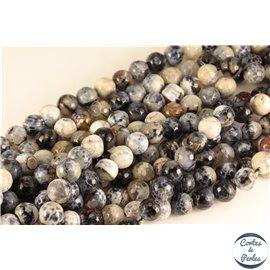 Perles semi précieuses en agate - Rondes/12 mm - Gris orage