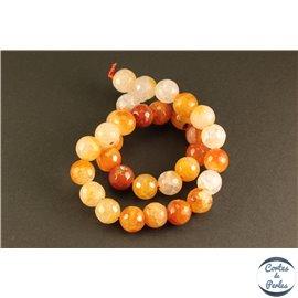 Perles semi précieuses en agate - Rondes/12 mm - Light orange