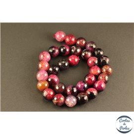 Perles semi précieuses en agate - Rondes/12 mm - Deep pink