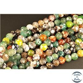 Perles semi précieuses en Agate - Rondes/12 mm - Vert Multi