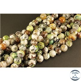 Perles semi précieuses en agate - Rondes/12 mm - Multicolore