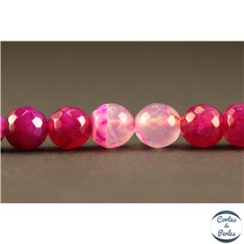 Perles semi précieuses en agate - Rondes/8 mm - Deep pink