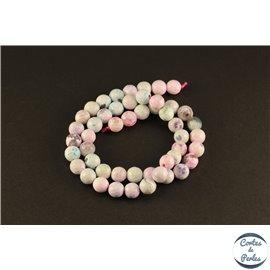 Perles semi précieuses en agate - Rondes/8 mm - Multicolore