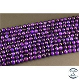 Perles semi précieuses en agate - Rondes/8 mm - Dark violet