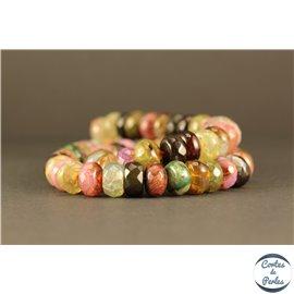 Perles semi précieuses en agate - Roues/10 mm - Arc en ciel
