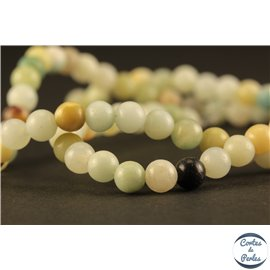 Perles en amazonite - Rondes/4mm