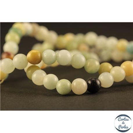 Perles semi précieuses en amazonite - Rondes/4 mm