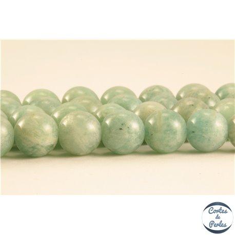 Perles semi précieuses en amazonite - Rondes/6 mm - Turquoise Clair
