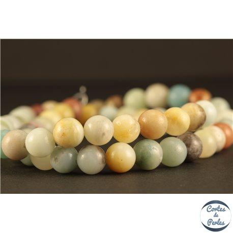 Perles semi précieuses en amazonite - Rondes/6 mm