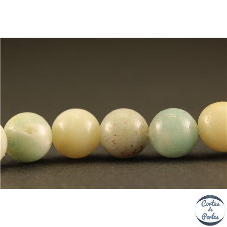 Perles semi précieuses en amazonite - Rondes/8 mm