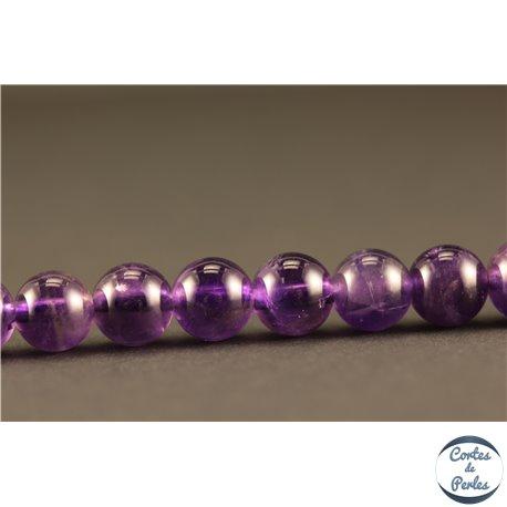 Perles semi précieuses en améthyste - Rondes/6 mm