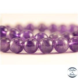 Perles semi précieuses en améthyste - Rondes/8 mm