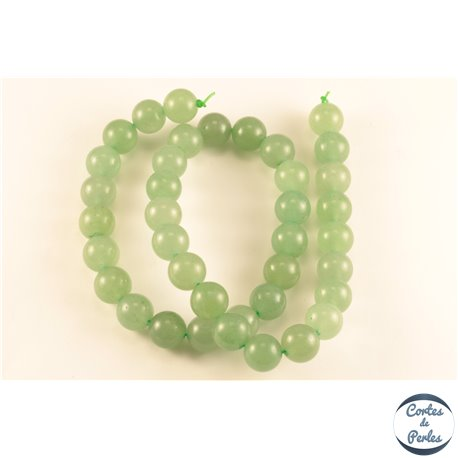 Perles semi précieuses en aventurine - Rondes/10 mm