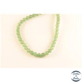 Perles semi précieuses en aventurine - Rondes/6 mm